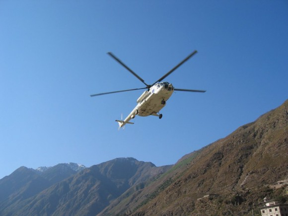 Pakistan helicopter ride